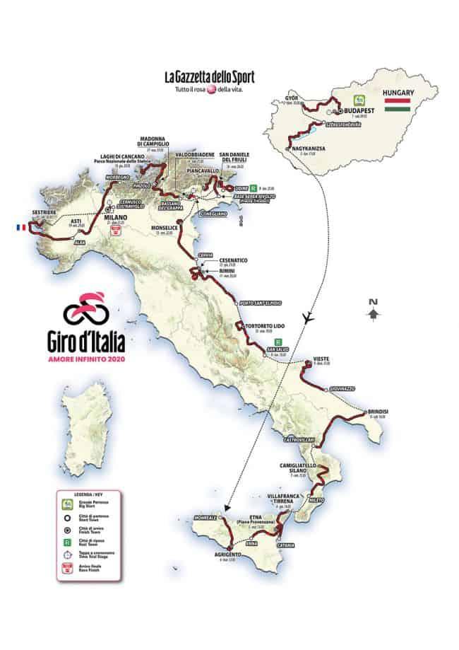 Trasa Giro 2020