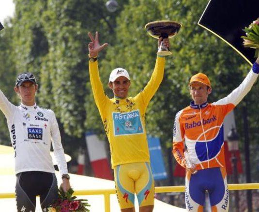 Andy Schleck, Alberto Contador, Denis Menchov
