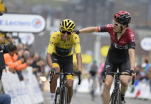 Egan Bernal a Geraint Thomas