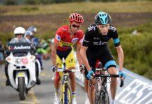 Alberto Contador a Chris Froome