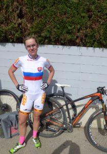 Janka Keseg Števková jako slovenská MTB šampiónka v roce 2016