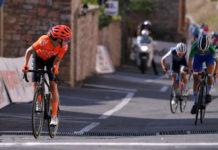 Marianne Vos stíhaná Cecilií Uttrup Ludwig - 3. etapa Giro Rosa 2020
