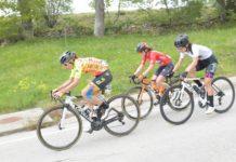 Vítězka 2. etapy Vuelty a Burgos Féminas Anastasija Krusinová vede skupinu uprchlic