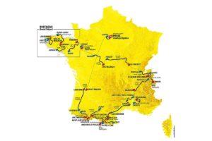 Tour de France 2021 mapa