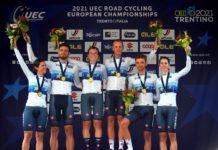Itálie slaví vítězství ve smíšené časovce na mistrovství Evropy v Trentinu