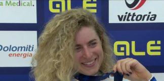 Marlen Reusser – vítězka časovky žen na mistrovství Evropy 2021 v Trentinu